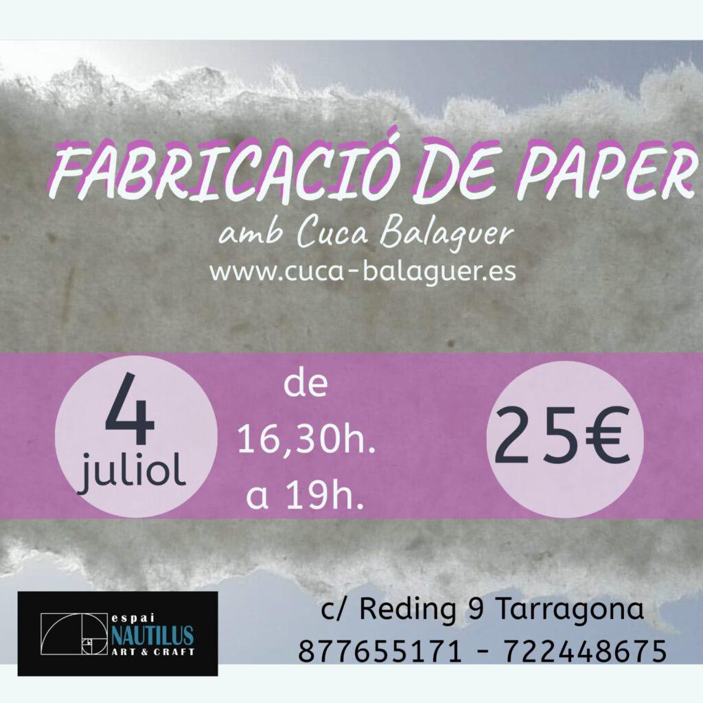 TALLER DE FABRICACIÓ DE PAPER