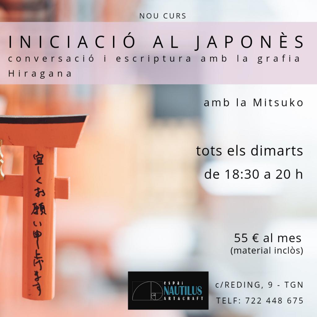 CURS D'INICIACIÓ AL JAPONÈS